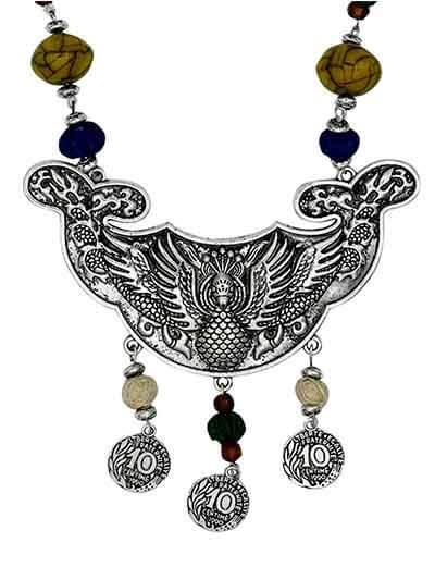 Colors of Joy Tribal Jewellery Statement Necklace