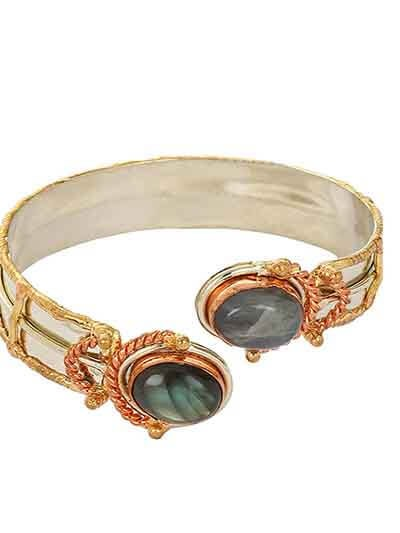 Stylish Labrodorite Bracelet Cuffs