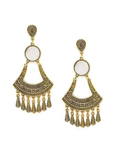 Golden Chandelier Mirror Earrings