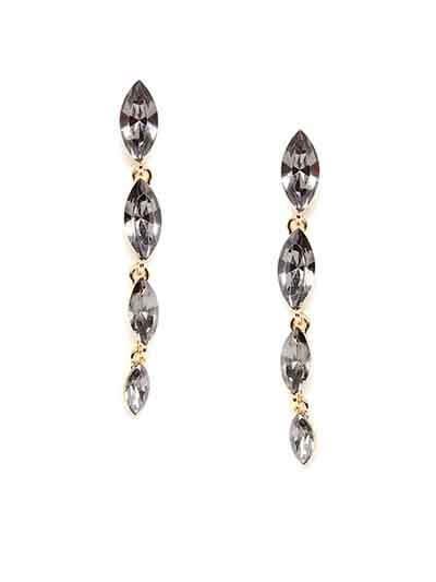 Grey and Golden Stone Dangler Earrings