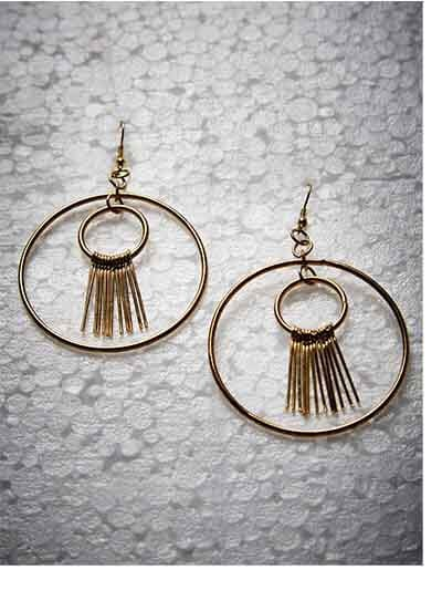 Artisan Gold Plated Designer Western Earrings