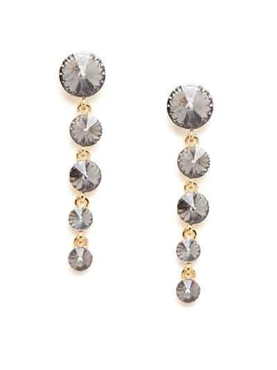 Grey and Golden Stone Earrings