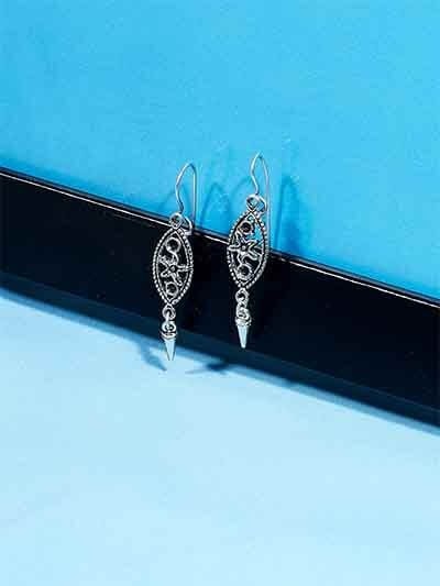 Classic Starfish Oxidized Earrings