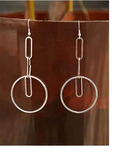 Artisan Silver Plated Designer Western Earrings