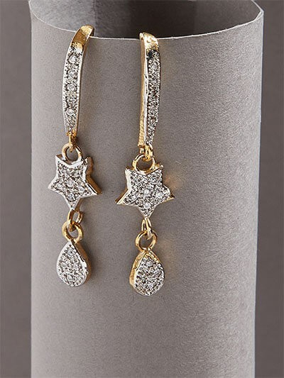 American Diamond Dangle Earrings