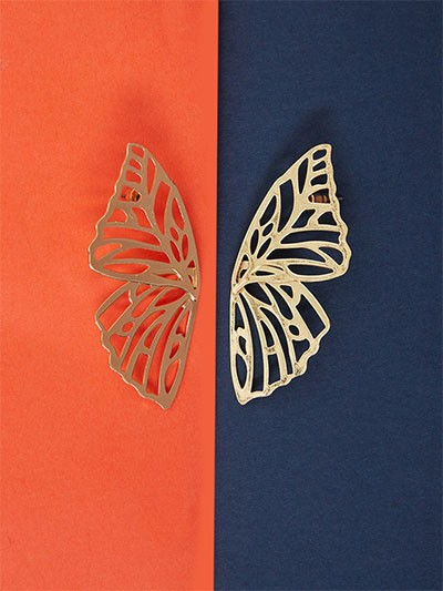 Golden Butterfly Earrings