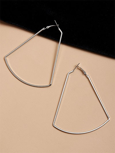 Classic Silver Geometrical Earrings