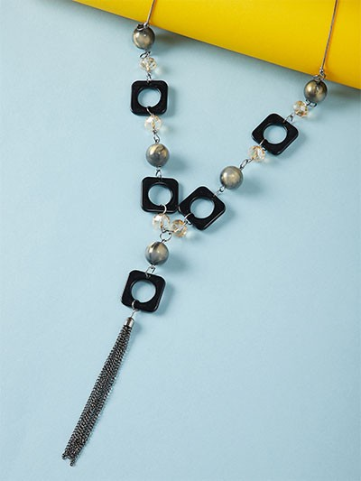 Black and Silver Contemporary Necklace