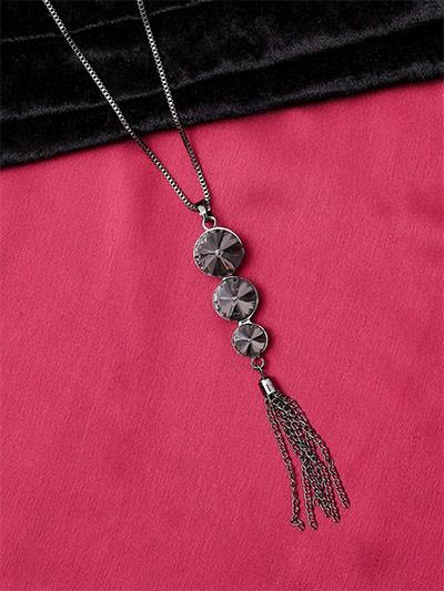 Grey and Black Contemporary Necklace