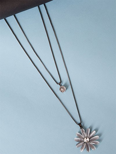 Layered Flower Necklace