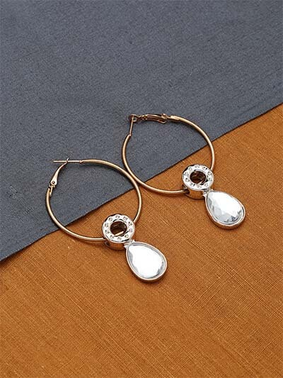Golden and Silver Hoop Earrings