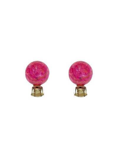 Fuchsia Designer Interchangeable Western Earrings