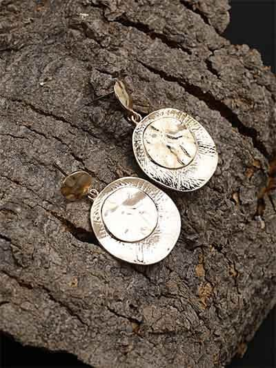 Lightweight Vintage Coin Dangle Earrings