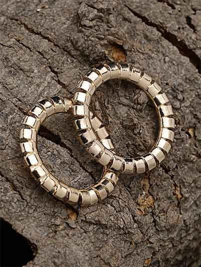 Designer Golden Hoop Earrings