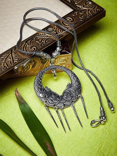Hanging Swords Antique Tribal Jewellery Statement Necklace