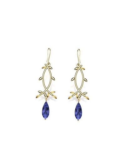 Golden Folral Earrings