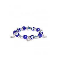 Blue Heart Artificial Charm Bracelet