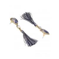 Sodalite and Howlite Semi Precious Handmade Jewellery Earrings