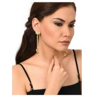 Party Wear Long Chain Brass Party Wear Earrings