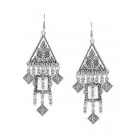 Hanging Diamonds and Triangles Tribal Jewellery Earrings