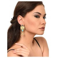 Golden & Blue Designer Earrings For Women