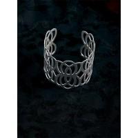 Classic Patterned Silver Cuff Bracelet