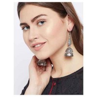 Drop Tribal Jewellery Long Jhumkis With Hanging Coins