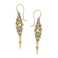Combo of Two Short Golden Leaf Earrings
