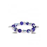 Blue and Silver Elephant Charm Bracelet