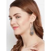 Leafy Oxidized Silver Earrings