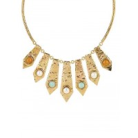 Golden Jasper Pendant Fashion Necklace