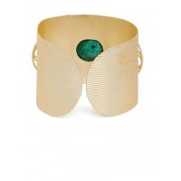Stella Brass Plated Agate Stone Designer 9 to 5 office wear Jewellery Cuff