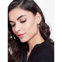 Lightweight Short Golden Star Earrings For Women