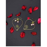 Alloy Metal Delicate Floral Western Earrings for Women
