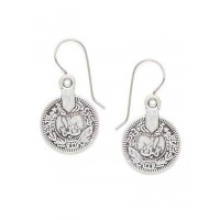 Combo of Silver Coin and Silver Love Birds Earrings