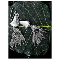 Long Tribal Jewellery Jhumkis with Pretty Hanging Leaves