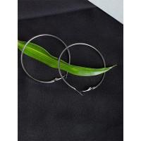 Classic Silver Hoop Earrings For Women