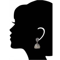 Ganesha Tribal Jewellery Silver Jhumka Earrings