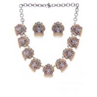 Silver & Golden Oxidized Necklace Set