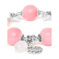 Shades of Pink Charm Bracelet For Women