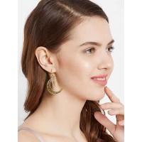 Golden Crescent Earrings