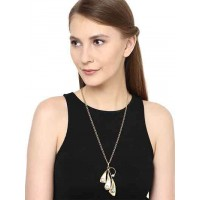Stylish Brass Trio Pendant Fashion Necklace