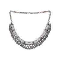 Boho Look Tribal Jewellery Silver Fashion Necklace