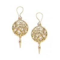 Golden Circular Earrings