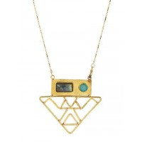 Inverted Triangle Long Chain Pendant Fashion Necklace