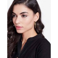 Short and Pretty Golden Sword Earrings For Women