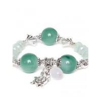 Shades of Green Tortoise Charm Bracelet