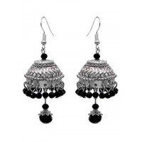 Short Silver Jhumka Earrings For Women and Girls