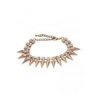 Spiked Golden Handmade Jewellery Bracelet