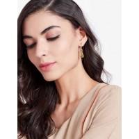 Short Golden Tiger Earrings For Women